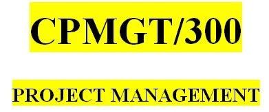 CPMGT 300 Week 3 Scope Statement
