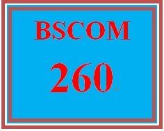 BSCOM 260 Week 5 Online Student Guide