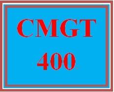 CMGT 400 Week 1 Threats, Attacks, and Vulnerability Assessment
