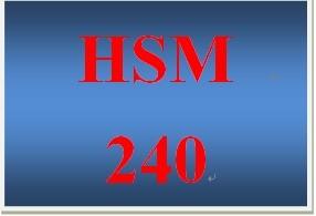 HSM 240 Week 1 Social Problems