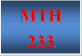 MTH 233 Week 1 DQ 3
