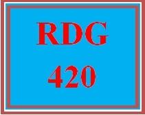 RDG 420 Week 2 Team Assignment: Reading Fluency Assessment Tools