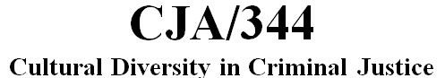 CJA 344 Week 2 Ethnicity and the Police Outline