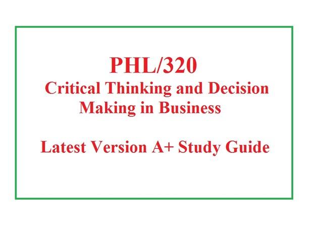 PHL 320 Week 5 Knowledge Check