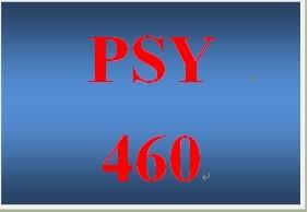 PSY 460 Week 1 Week One Short Answer