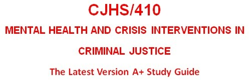 CJHS410 Week 5 Intervention Response Plan