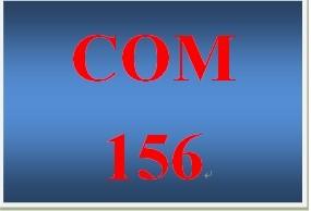 COM 156 Week 1 Research Plan