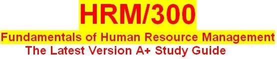 HRM 300 Week 4 Human Resource Management Training Presentation