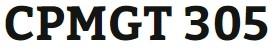 CPMGT 305 Week 3 Project Management Plan