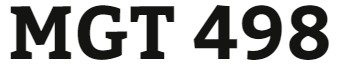 MGT 498 Week 4 Strategy Formulation