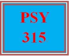 PSY 315 Week 4 Week Four Practice Problems Worksheet
