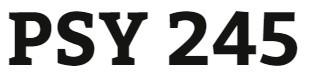 PSY 245 Week 3 Nonexperimental Research Quiz