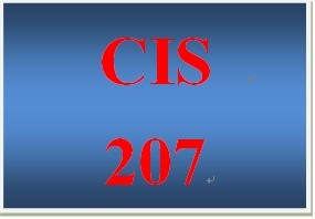 CIS 207 Week 1 Reflection of Personal IT Background