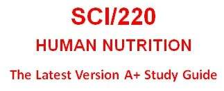 SCI220 Week 2 Food Intake – 3 Days
