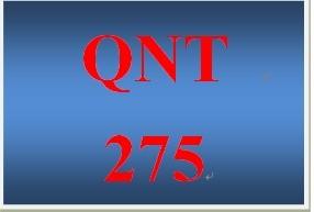 QNT 275 Week 3 - 10 Term Assignment