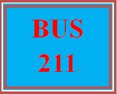 BUS 211 Week 4 Quiz