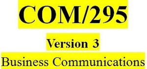 COM 295 Week 4 Persuasive Message