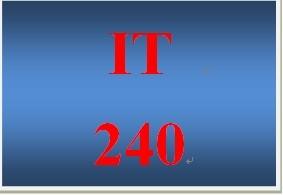 IT 240 Week 5 Individual IP Addressing
