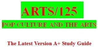 ARTS 125 Week 4 Pop Art and Andy Warhol