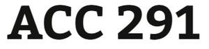 ACC 291 Week 1 Practice Quiz