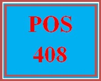 POS 408 Assignment Week 2 Learning Team: Methods Can Help with Maintenance