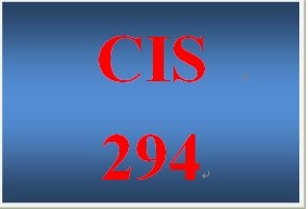 CIS 294 Week 1 Individual Support Role Paper