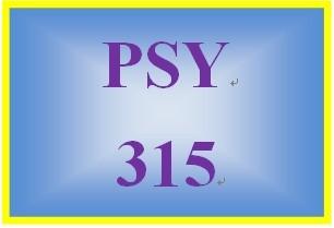 PSY 315 Week 4 Practice Worksheet