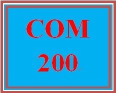 COM 200 Week 4 Managing Relationships Paper