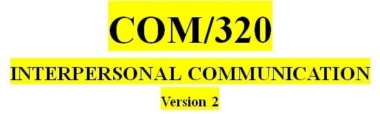 COM 320 Week 4 Journal