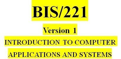 BIS 221 Week 2 Knowledge Check
