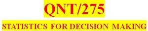 QNT/275 Week 3 MyStatLab