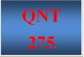 QNT 275 Week 2 Participation Measuring Central Tendency and Variability