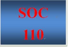 SOC 110 Week 1 participation Week 1 Electronic Reserve Readings
