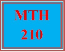 MTH 210 Week 1 MyMathLab Study Plan for Weekly Checkpoint