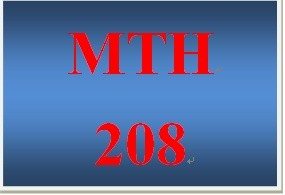 MTH 208 Week 2 participation Formulas
