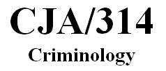 CJA 314 Week 1 Individual Paper - Crime Data Comparison Paper