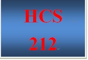HCS 212 Week 1 Health Care Terms Worksheet