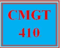 CMGT 410 Wk 4 Discussion - Scope Creep