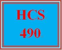 HCS 490 Wk 1 Discussion Board