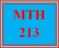 MTH 213 Week 2 Weekly MyMathLab® Checkpoint