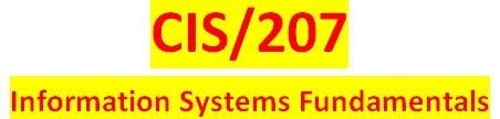 CIS 207 Week 4 Learning Team New System Proposal