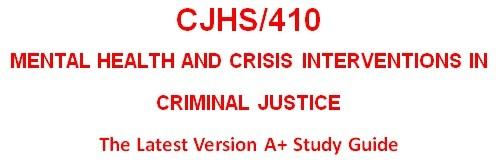 CJHS410 Week 4 Program Report