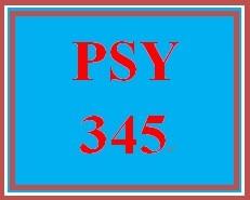 PSY 345 Week 1 Week One Worksheet