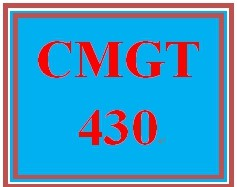 CMGT 430 Week 3 Responding to Threats