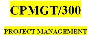 CPMGT 300 Week 1 Learning Team Charter