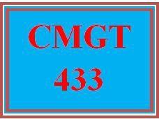 CMGT 433 Week 4 Security Proposal