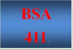 BSA 411Week 3 Individual Design Classes