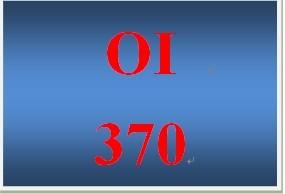 OI 370 Week 3 Disruptive Innovation