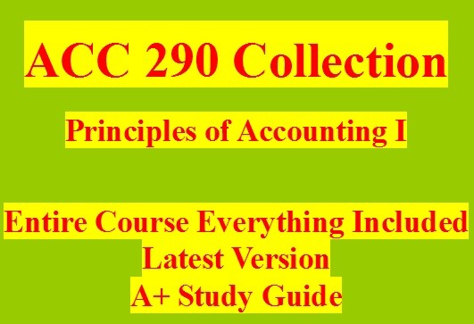 ACC 290 WileyPLUS Final Examination