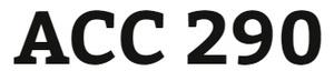 ACC 290 Week 1 - Real World